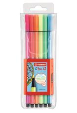 Stabilo Stabilo Pen 68 Wallet 6 Neon