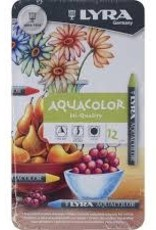 Lyra Aquacolor Crayon Metallic 12 Piece Set