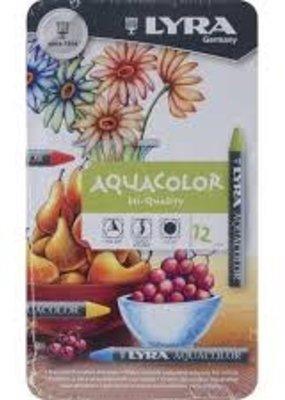 Lyra Aquacolor Crayon Metallic 12 Piece Set