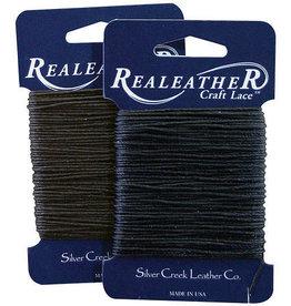 Realeather Waxed Thread Black 25 Yards
