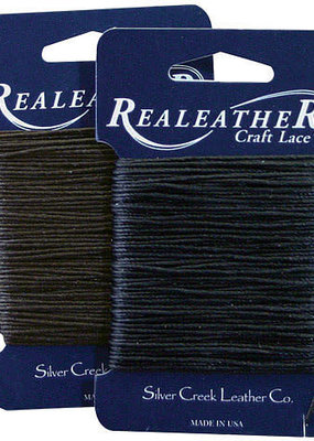 Realeather Waxed Thread Black 25 Yards