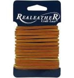 Realeather Leather Lace 1/8 Inch x 4 yard Light Brown