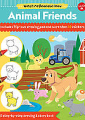 Walter Foster Watch Me Read and Draw Animal Friends