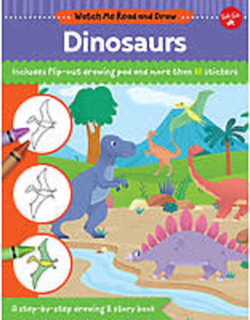Walter Foster Watch Me Read and Draw Dinosaurs