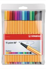 Stabilo Stabilo Point 88 Wallet 15 Piece Pack