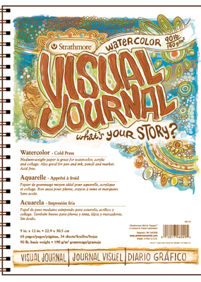 Strathmore Strathmore Visual Journal 90 lb. Cold Press Watercolor Paper 9 x 12 Inch