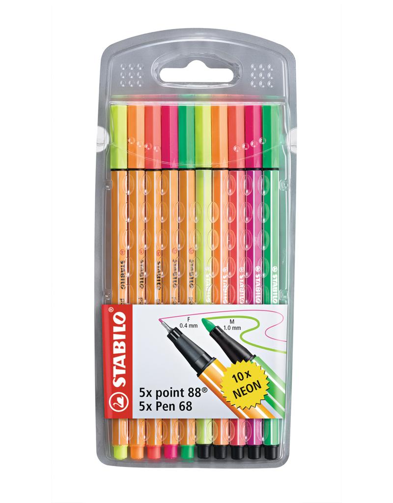 Stabilo Stabilo 88 Pen 68 Set 10 Neon