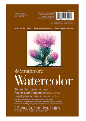 Strathmore Strathmore Watercolor Paper Pad 400 Series 5.5 X 8.5 Inch