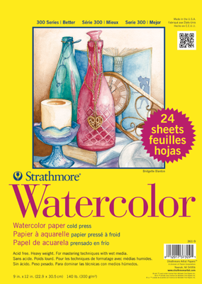Strathmore Strathmore Watercolor Paper Pad 300 Series 9 x 12 Inch