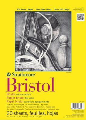 Strathmore Strathmore Bristol Regular Paper Pad Series 300 9 x 12 Inch
