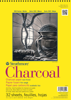 Strathmore Strathmore Charcoal Paper Pad 300 Series Spiral Bound 9 x 12 Inch