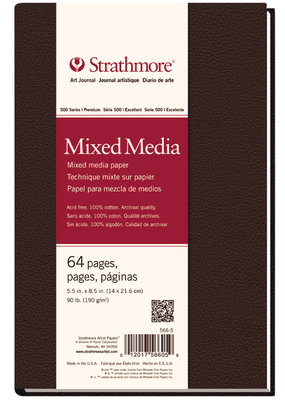 Strathmore Strathmore Mixed Media Hard Bound Art Journal 500 Series 5.5 x 8.5 Inch