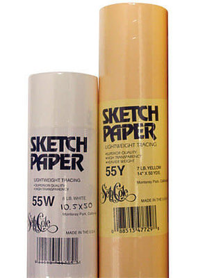Seth Cole Sketch Roll 12 Inch x 50 Yards White