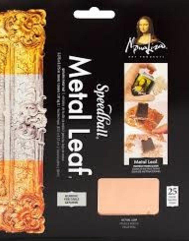 Mona Lisa Metal Leaf Copper 5.5 x 5.5 Inch 25 Sheets
