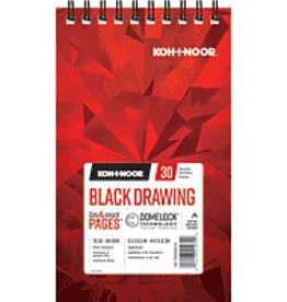 Koh-I-Noor Black Drawing Pad 5.5 x 8.5
