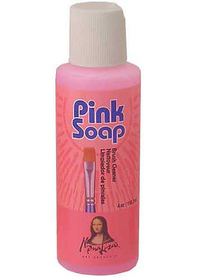 Mona Lisa Pink Soap Artist Brush Cleaner 8 Ounce