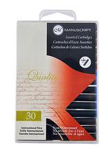 Manuscript Calligraphy Ink Black Cartridge 12 Piece Pack