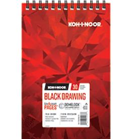 Koh-I-Noor Black Drawing Pad 7 x 10