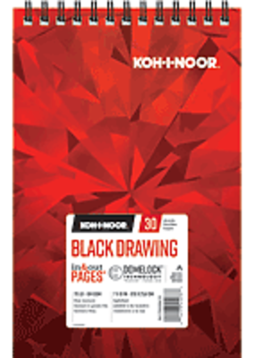 Koh-I-Noor Black Drawing Pad 7 x 10
