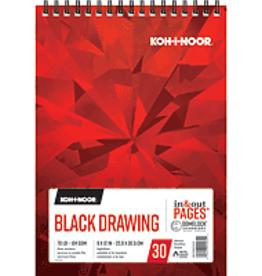 Koh-I-Noor Black Drawing Pad 9 x 12