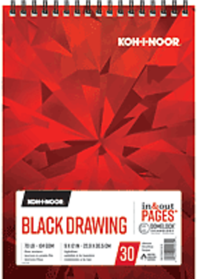 Koh-I-Noor Black Drawing Pad 9 x 12