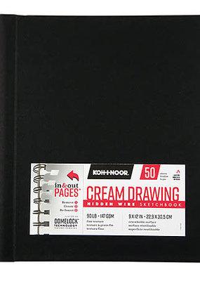 Koh-I-Noor Drawing Sketchbook Hidden Wire Bound 9 x 12