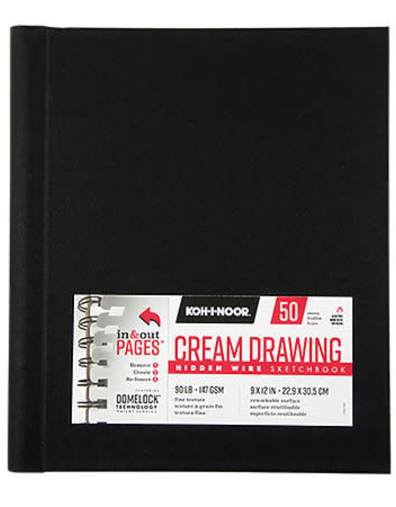 Koh-I-Noor Drawing Sketchbook Hidden Wire Bound 9 x 12