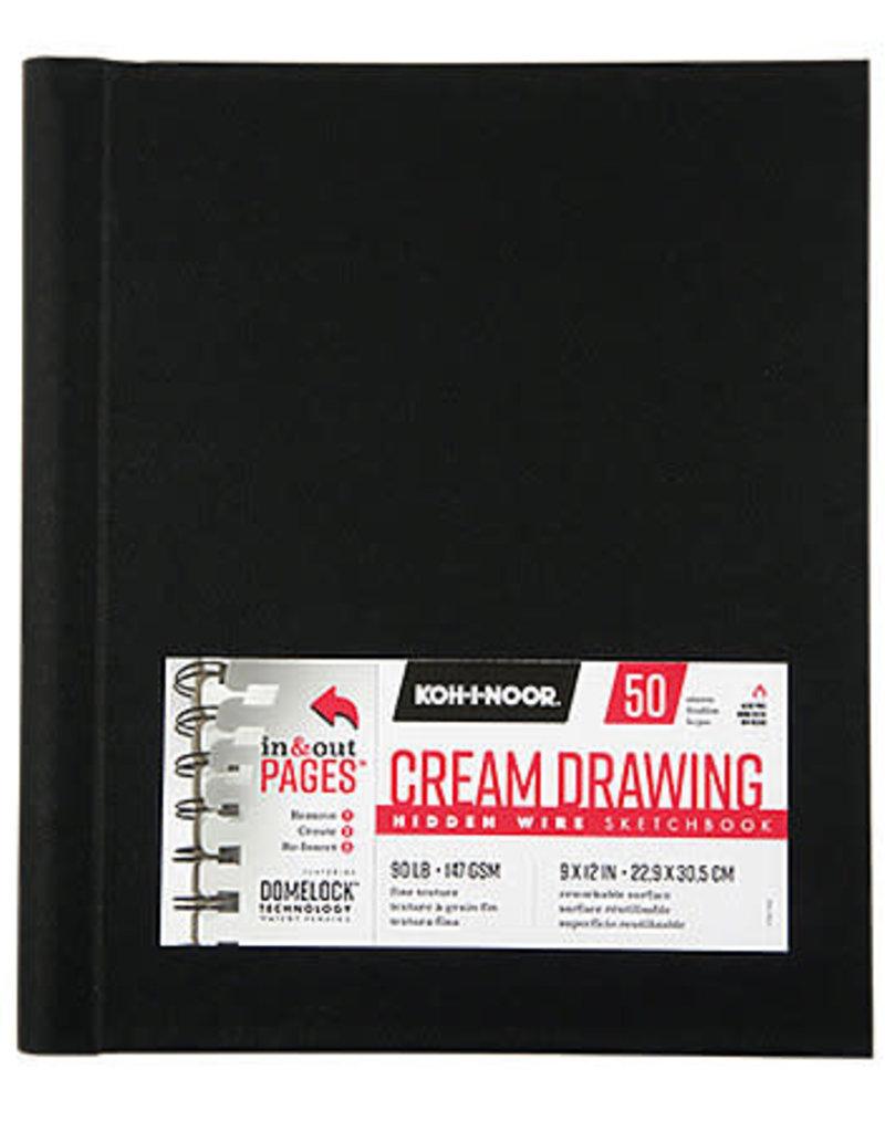 Koh-I-Noor Drawing Sketchbook Hidden Wire Cream  5.5 x 8.5
