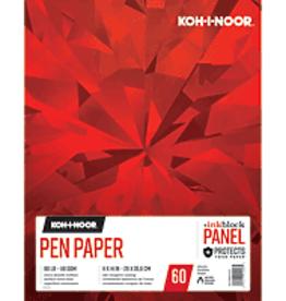Koh-I-Noor Pen Paper Pad With Ink Block Panel 11 x 14