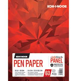 Koh-I-Noor Pen Paper Pad With Ink Block Panel 9 x 12