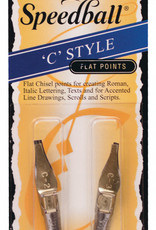 Speedball Lettering & Drawing Pen Points 2-Pack C2/C3