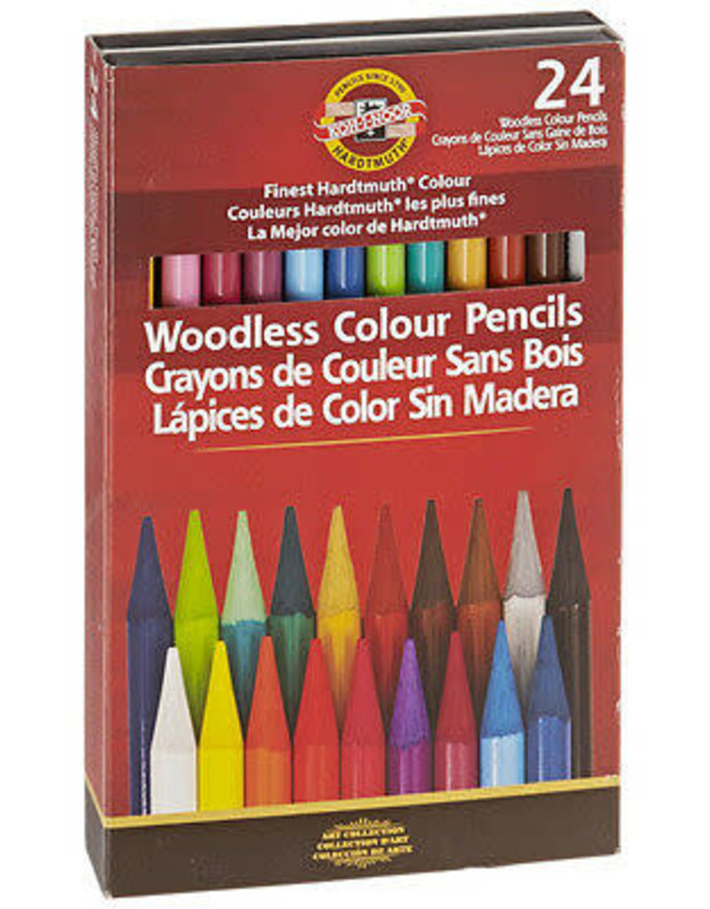 Koh-I-Noor Progresso Woodless Colored Pencil Set of 24
