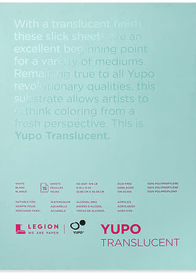Legion Paper Yupo Translucent Watercolor Paper 9 X 12 15 Sheets