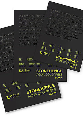 Legion Paper Stonehenge Aqua Black Watercolor Pad 9 x 12