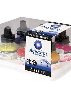 Daler-Rowney Aquafine Watercolor Ink Set of 6