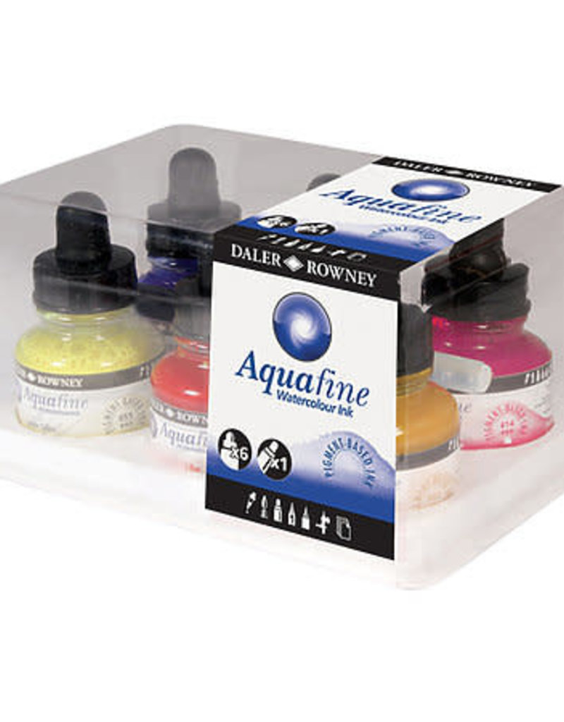 Daler-Rowney Aquafine Watercolor Ink Set of 6
