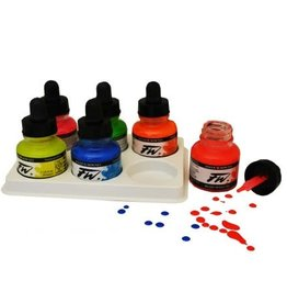 Daler-Rowney FW Acrylic Ink Fluorescent Colors Set of 6