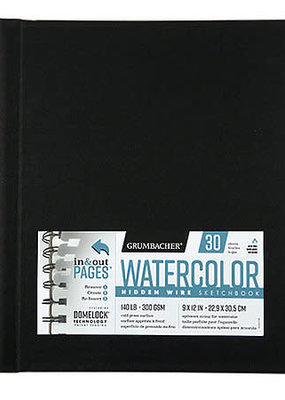 Grumbacher Grumbacher Watercolor Sketchbook Hidden Wire Bound 7 x 10