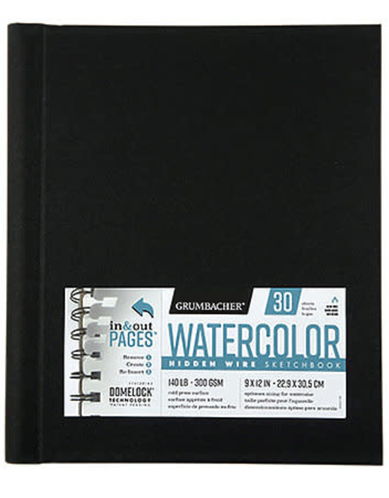 Grumbacher Grumbacher Watercolor Sketchbook Hidden Wire Bound 9 x 12