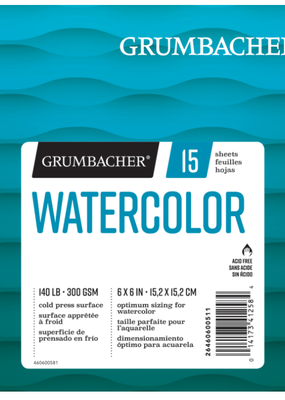 Grumbacher Grumbacher Watercolor Pad 6 x 6