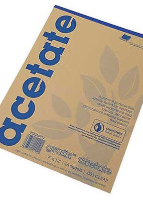 Grafix Clear Acetate Film 0.003 9 X 12  25 Sheet Pad