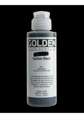 Golden Golden Fluid Acrylic Carbon Black 4 Ounce