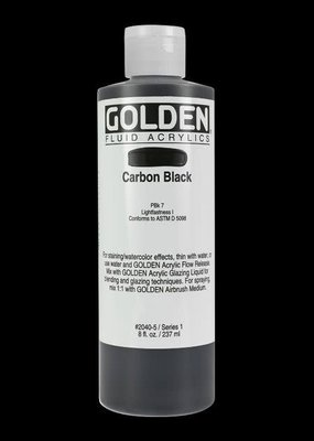 Golden Golden Fluid Acrylic Carbon Black 8 Ounce
