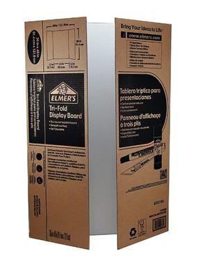 "Elmer's Display Board Tri-Fold Corrugated 36""x 48"" White"