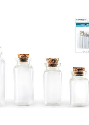 Craft Medley Glass Bottles 4 Pack