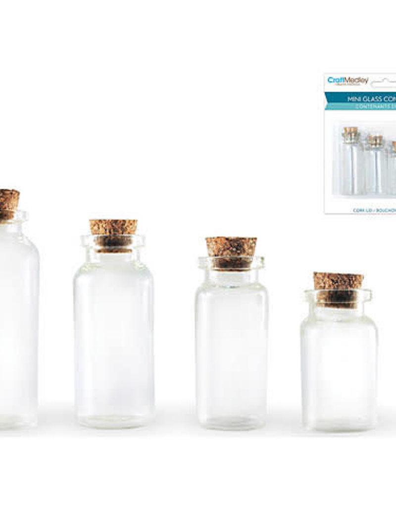 Craft Medley Glass Bottles 4 Pack