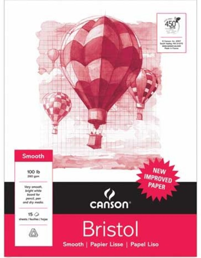 Canson Canson Student Bristol Sheets 18 x 24 Vellum 100 lb