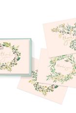 Fringe Boxed Cards Thank You Eucalyptus