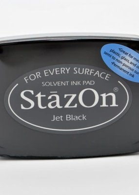 Stazon StazOn Solvent Ink Pad Large Jet Black