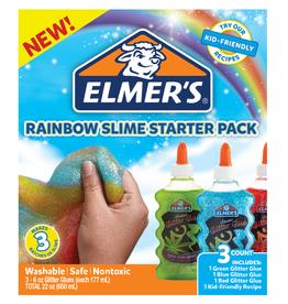 Elmer's Elmer's Glitter Glue Rainbow Slime Starter Pack